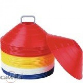Trainingsmateriaal -  kopen - Set zachte afbakenbollen 50 stuks op houder