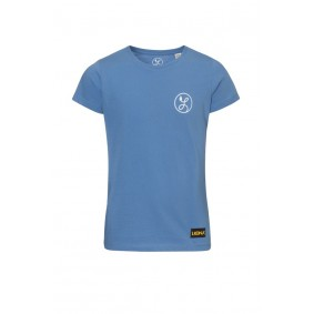 Meisjesvoetbal kleding - Vrijetijdskleding kinderen - Wedstrijd- en training - kopen - Liona Meisjes Logo T-Shirt Azuur
