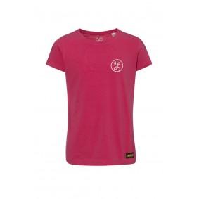 Meisjesvoetbal kleding - Vrijetijdskleding kinderen - Wedstrijd- en training - kopen - Liona Meisjes Logo T-Shirt Framboos