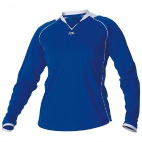 Teamkleding - Dameskleding - Voetbalshirts - kopen - Hummel London Shirt Ladies l.m. Senior Donker-blauw / Wit