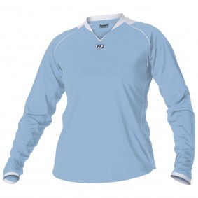 Teamkleding - Dameskleding - Voetbalshirts - kopen - Hummel London Shirt Ladies l.m. Senior Licht-Blauw / Wit