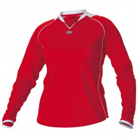 Teamkleding - Dameskleding - Voetbalshirts - kopen - Hummel London Shirt Ladies l.m. Senior Rood / Wit