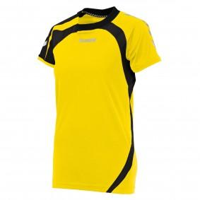 Teamkleding - Dameskleding - Voetbalshirts - kopen - Hummel Odense Shirt Ladies k.m. Geel / Zwart