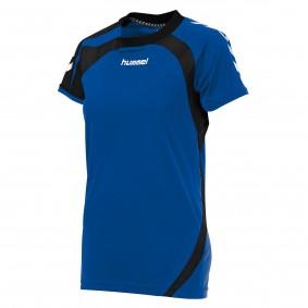 Teamkleding - Dameskleding - Voetbalshirts - kopen - Hummel Odense Shirt Ladies k.m. Blauw / Zwart