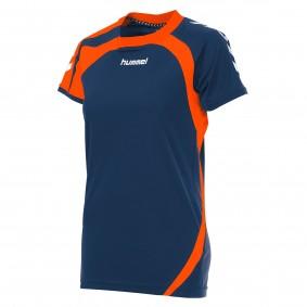 Teamkleding - Dameskleding - Voetbalshirts - kopen - Hummel Odense Shirt Ladies k.m. Donker-Blauw / Oranje