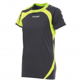 Teamkleding - Dameskleding - Voetbalshirts - kopen - Hummel Odense Shirt Ladies k.m. Grijs / Geel