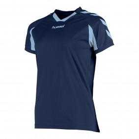 Teamkleding - Dameskleding - Voetbalshirts - kopen - Hummel Everton Shirt Ladies k.m. Donker-Blauw / Licht-Blauw