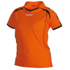 Teamkleding - Dameskleding - Voetbalshirts - kopen - Hummel Brasil Shirt Ladies k.m. Oranje / Zwart