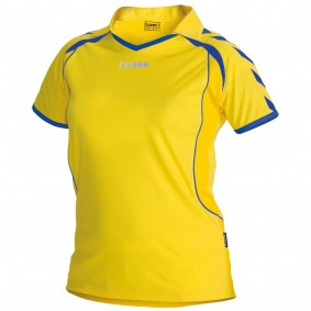 Teamkleding - Dameskleding - Voetbalshirts - kopen - Hummel Brasil Shirt Ladies k.m. Geel / Blauw