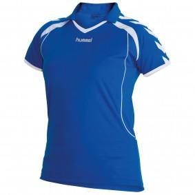 Teamkleding - Dameskleding - Voetbalshirts - kopen - Hummel Brasil Shirt Ladies k.m. Blauw / Wit