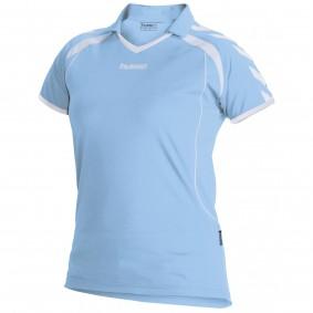 Teamkleding - Dameskleding - Voetbalshirts - kopen - Hummel Brasil Shirt Ladies k.m. Licht-Blauw / Wit