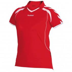Teamkleding - Dameskleding - Voetbalshirts - kopen - Hummel Brasil Shirt Ladies k.m. Rood / Wit