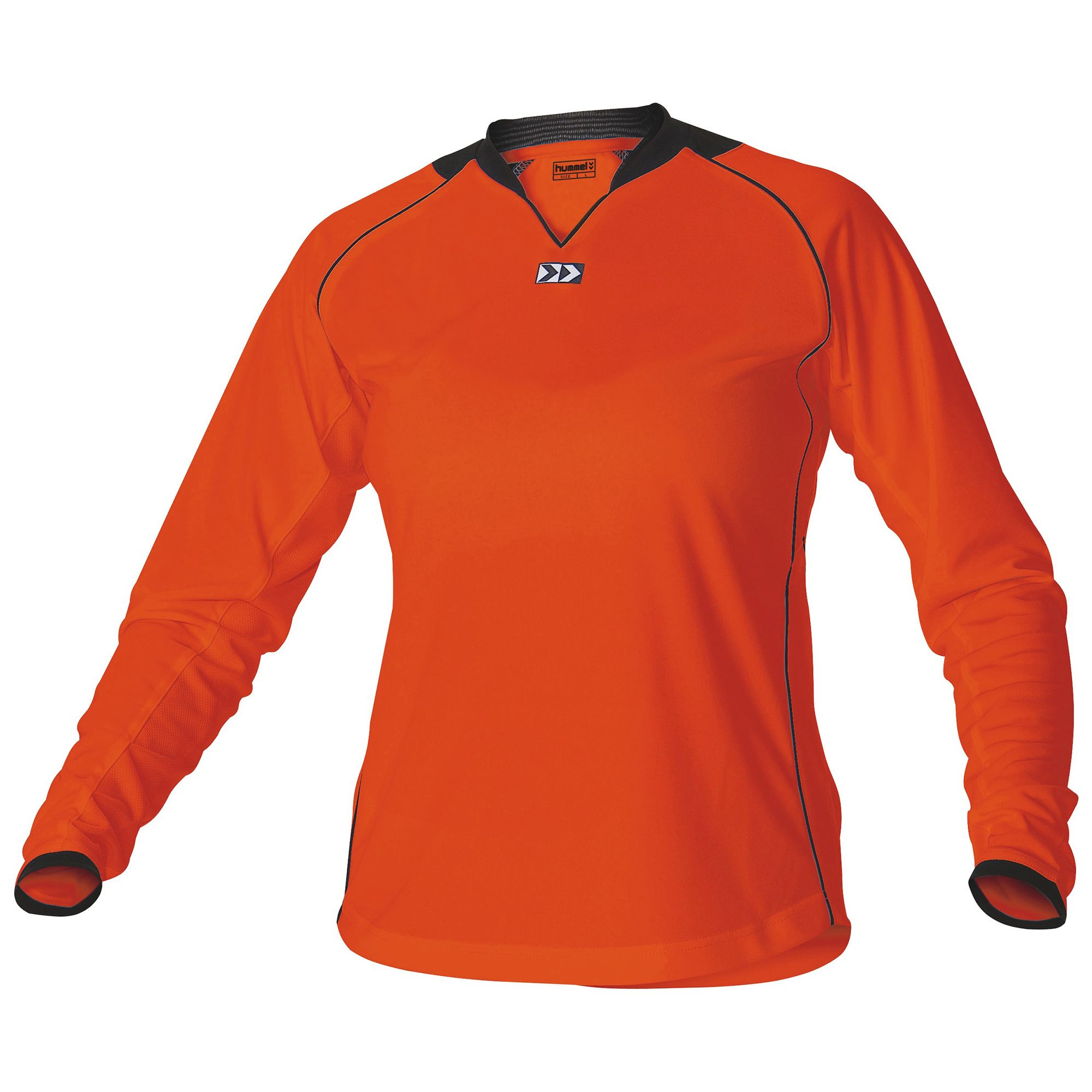 Hummel London Shirt Ladies l.m. Senior Oranje - Zwart