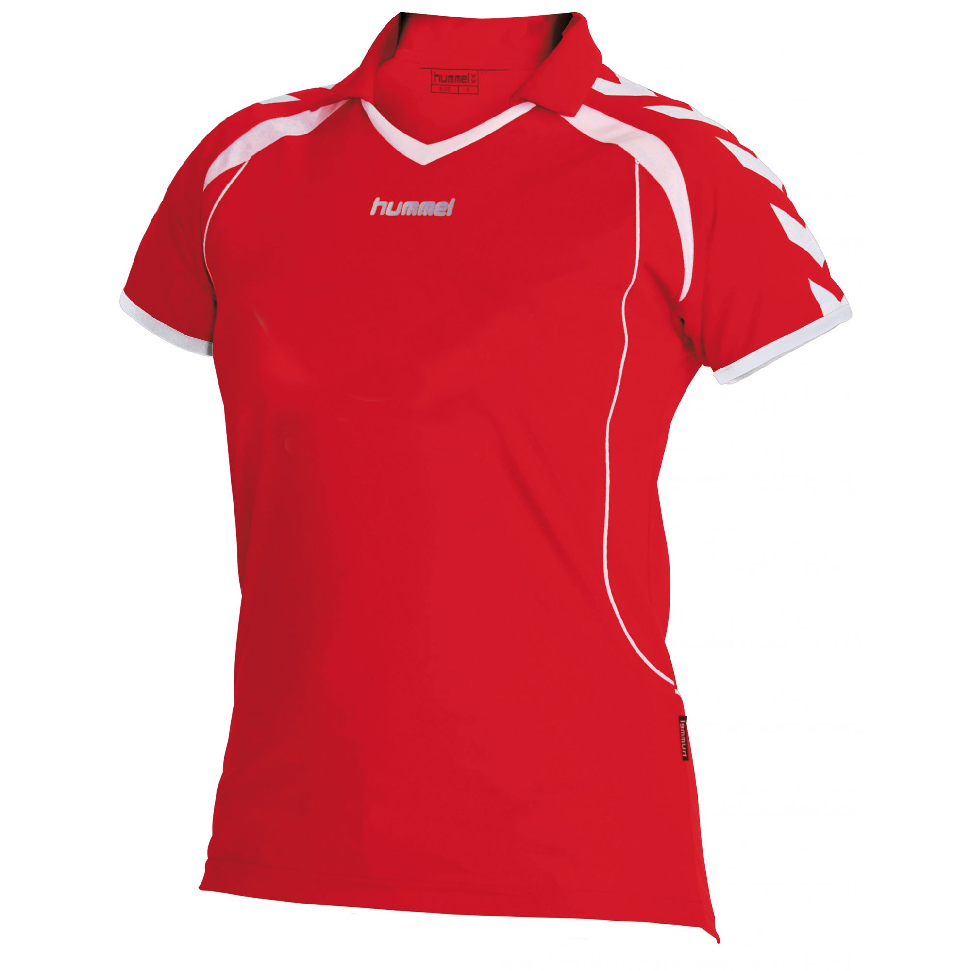Hummel Brasil Shirt Ladies k.m. Rood - Wit